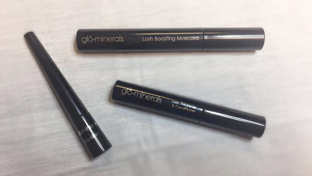 liquid eye liner, lash thickener and conditioner, lash boosting mascara
